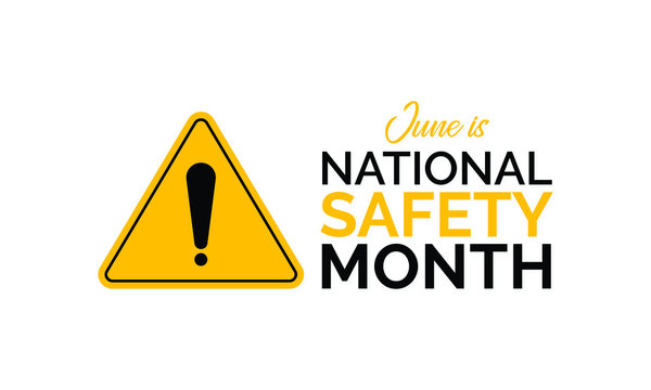 Vector illustration on the theme of National Safety month observed each year during June.