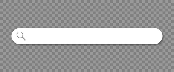 Search browser bar, magnifier button on a transparent background. Vector