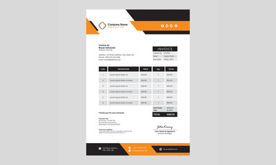 Professional and modern invoice template