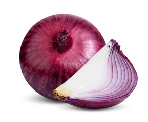 red onion isolated on white background vegetable