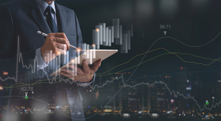 Business analysis Fotobehang