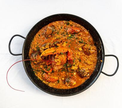 Arroz caldoso con bogavante - Rice with lobster