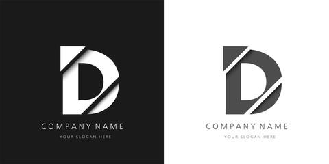 Fototapeta d letter modern logo broken design obraz