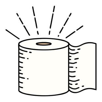 traditional tattoo style toilet paper