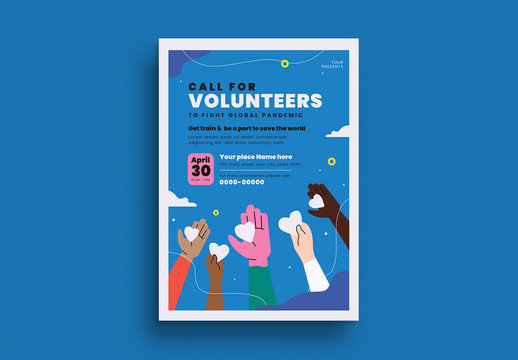 Volunteer Event Flyer Layout