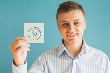 Picture icon donut in hand