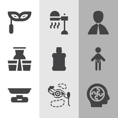 Simple collection of hung related filled icons