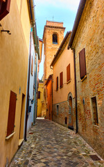 Wall Mural - Old street in Italy - Italian cityscape