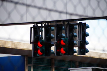 Stoplights At Stadium