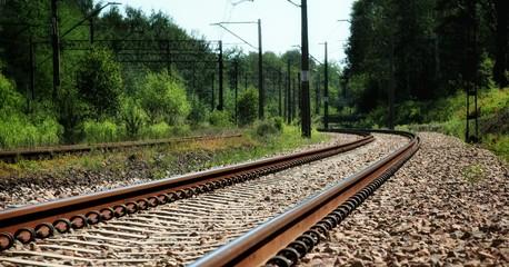 View Of Railroad Tracks