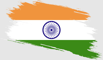 India flag with grunge texture