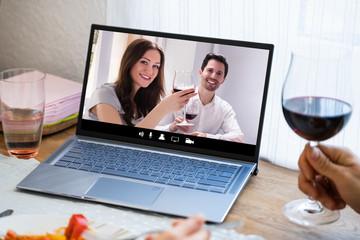 Poster de jardin Bar Virtual Wine Tasting