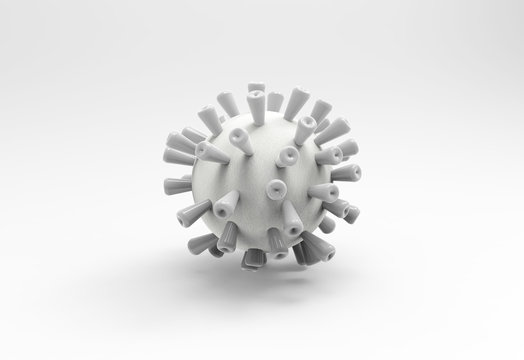 White NCOV virus on white background