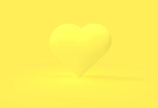 Monochromatic yellow heart
