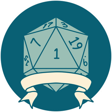 natural one d20 dice roll illustration