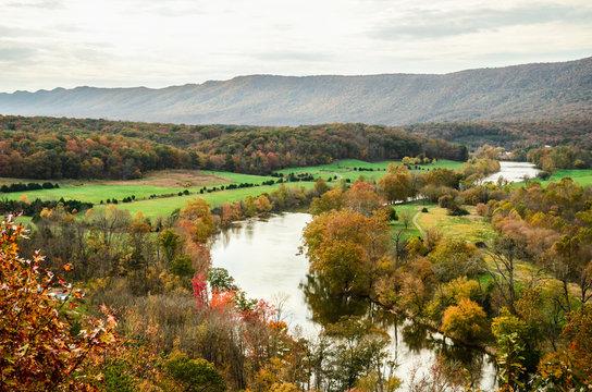 Shenandoah River Amidst Trees During Autumn