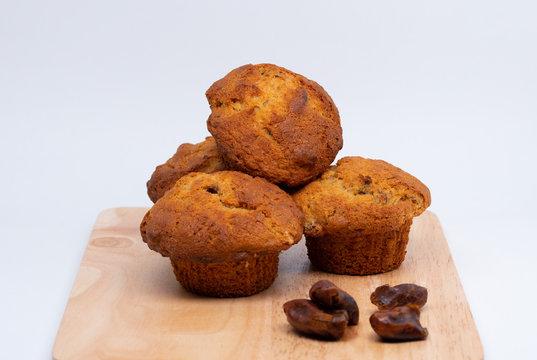 Banana, Date and Rum muffins