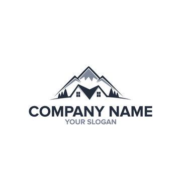 mountains real estate logo template