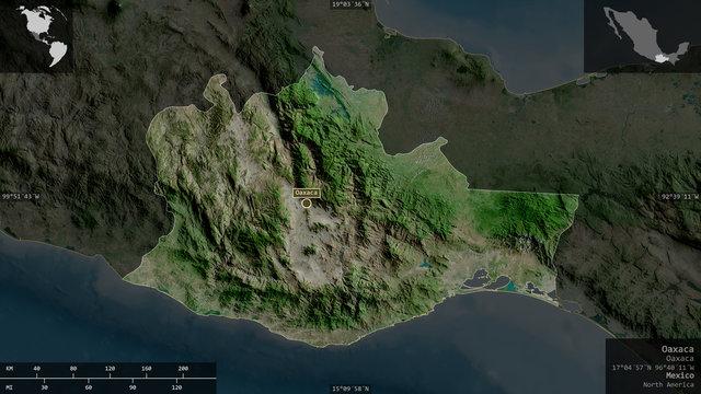 Oaxaca, Mexico - composition. Satellite