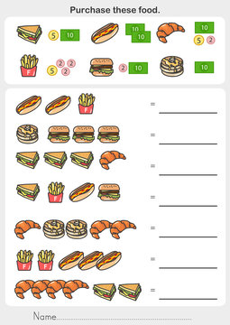 Purchase these food worksheet. Check product prices and summary