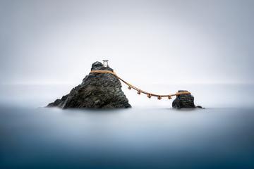 Sacred Meoto Iwa Rocks also known as the Wedded Rocks, Futami, Mie Prefecture, Japan