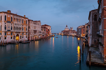 View of the Grand Canal of Venice Italy and the Basilica Santa Maria della Salute