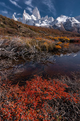 Keuken foto achterwand Chocoladebruin Fitz Roy Mountain in autumn, Patagonia, Argentina.
