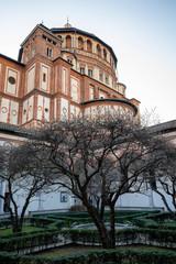 Wall Mural - Church of Santa Maria delle Grazie in Milan, Italy. Cloister
