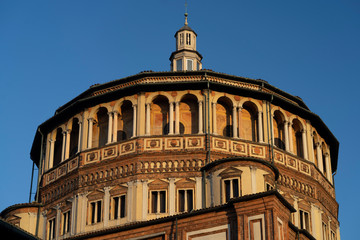 Wall Mural - Church of Santa Maria delle Grazie in Milan, Italy. Dome