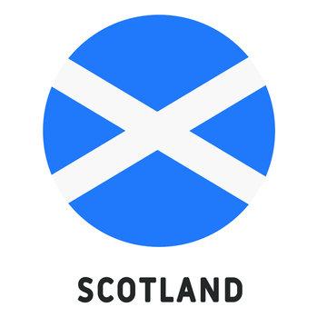 Scotland Flag Round Circle Vector