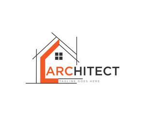 Architect Construction Logo Design Vector