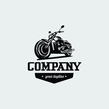 Motorcycle logo vector design. Awesome a motorcycle logo. A motorcycle logotype.