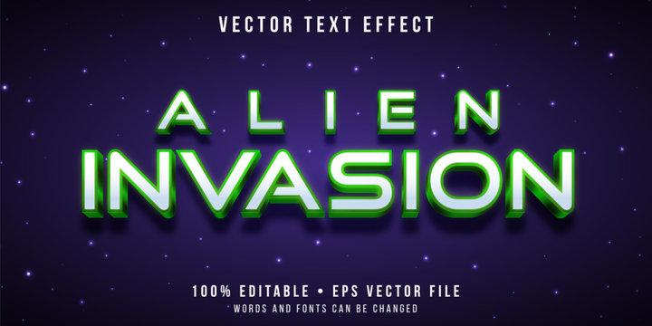 Editable text effect - alien invasion style