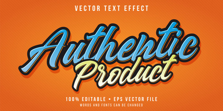 Editable text effect - promotional script text style