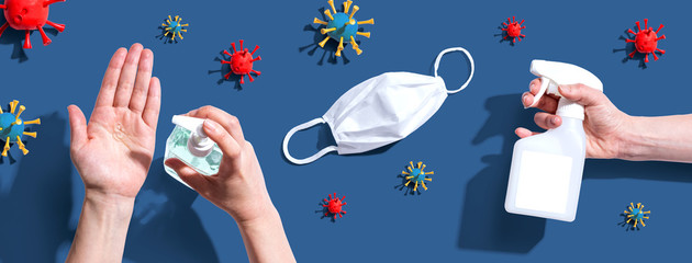 Prevent virus and germs - healthcare and hygiene concept