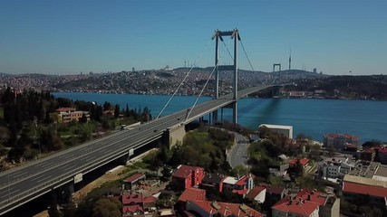 Fotomurales - Aerial view of Bosphorus Bridge in Istanbul