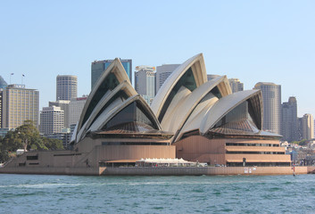 SYDNEY, AUSTRALIA - SEPTEMBER 17: Sydney Opera House view from the water. September 17, 2011 in Sydney, Australia.