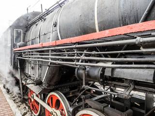 Locomotive Of Steam Train