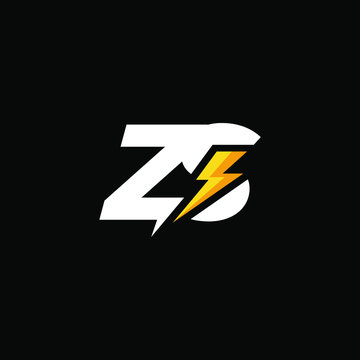 Initial Letter ZS with Lightning