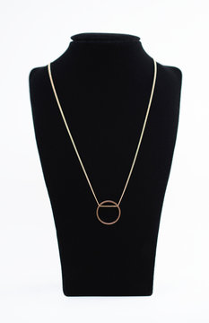 A gold ring necklace