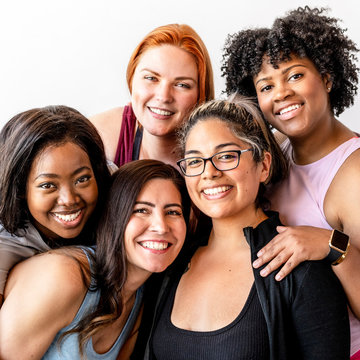 Diverse women coming together