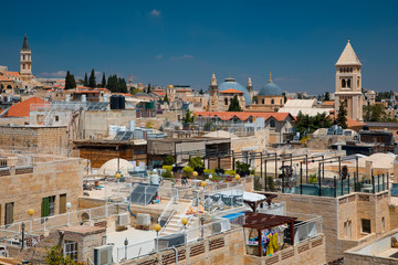 Churches and synagogues in Jerusalem skyline