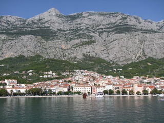 Küstengebirge hinter Makarska in Kroatien