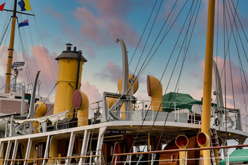 Wall Murals Ship Deck and details on an old ship in Canada