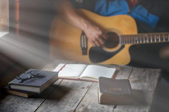 Christian family worship God in home