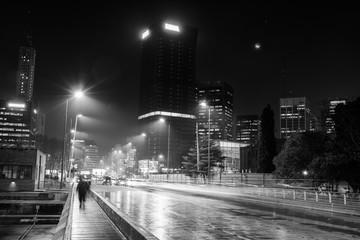 City Lit Up At Night - fototapety na wymiar