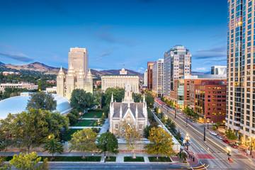 Fototapete - Temple Square, Salt Lake City, Utah, USA