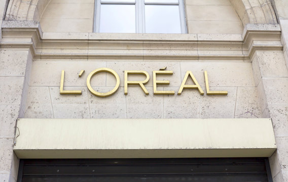 Paris, France -  L'Oreal Paris Store in Paris, The L'Oreal Group is a French cosmetics and beauty company, the world's largest cosmetics company.