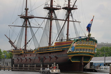 old ship in the Holland