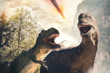 dinosaur before extinction day due to asteroid impact